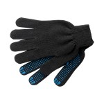 Перчатки Х/Б трикотажные с ПВХ утепленные двойные, черные