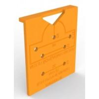 Мебельный шаблон для внутренних и накладных петель МШ-06 д.35мм и 26мм