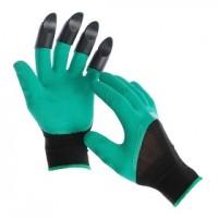 Перчатки акриловые со вспененным латексным покрытием УТЕПЛЕННЫЕ  оранжевые