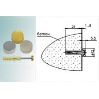 Держатель сквозной для пластика 5.26 (01) Хром D=12 мм, Н=5,5 мм Россия